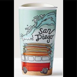 Starbucks  San Diego VW Ceramic Traveler cup